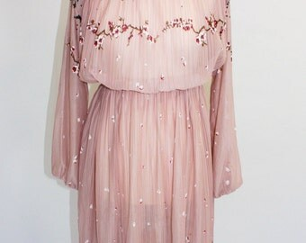 New Romantics Vintage dress in Japanese Blossom pink
