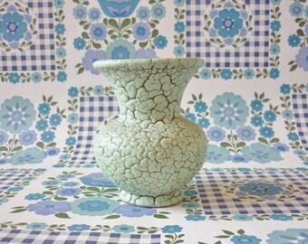 Mint Green West German Pottery Vase