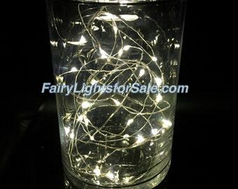 2m/6.6ft 1 set Warm White 20 LED fairy lights string strand cr2032 button battery for DIY, centerpiece, vase, wedding, mason jar, outdoor