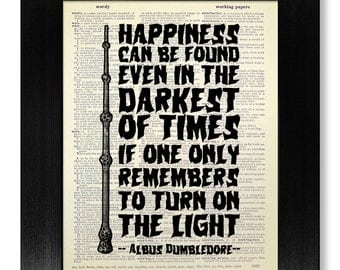 Harry Potter INSPIRATIONAL QUOTE Print, Harry Potter Poster, Harry Potter Decor, Inspirational Wall Art, Happiness Quote, TEEN Gift for Teen