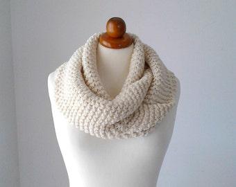 Chunky scarf neck warmer knit infinity scarf chunky infinity scarf chunky knit scarf crochet cowl  wool scarf circle scarf knit loop scarf