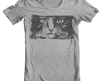 Cool Cat Shirt Cat Sweatshirt Cat Sweater Cat Jumper Womens sweatshirt yoga top Grey Sweater Cat Clothes