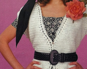 Crochet Simple Vest Pattern, Ladies, Women, Summer Blouse Top PATTERN,- PDF Download U.S.Version