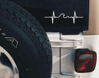 Wave Pulse Decal - Wave Sticker - Wave Decal - Laptop Decal - Laptop Sticker - Car Sticker - Car Decal - Window Sticker -  Macbook Decal