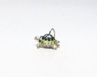 TURTLE, Tortoise, Turtle Bracelet, Turtle Jewelry, Turtle Charm, Turtle Necklace, Turtle Pendant, Sterling Silver, Charms, Enamel Charms