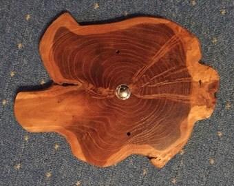 Front door bell - teak wood