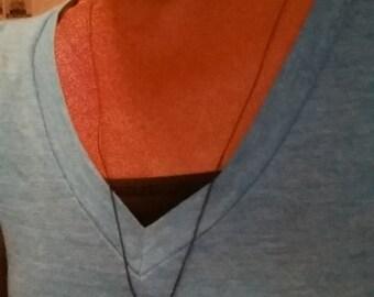 Thin Brass Vegan Necklace