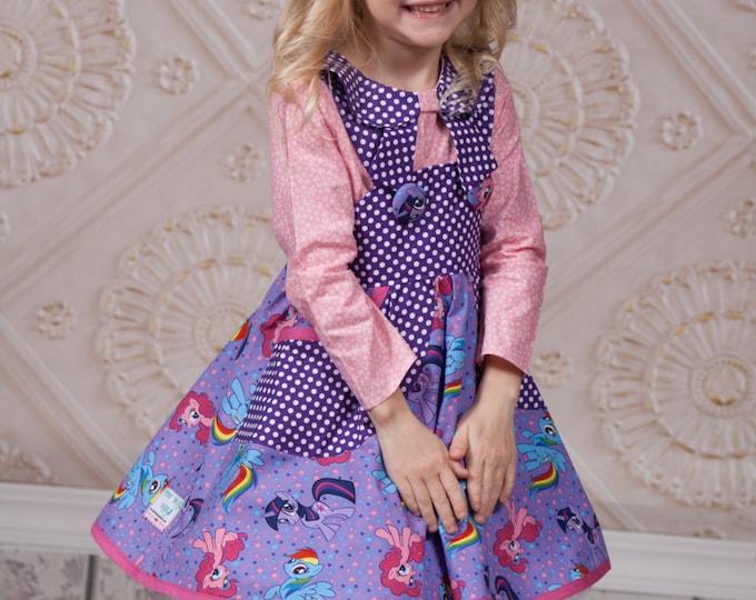 My Little Pony - My Little Pony Dress - Rainbow Dash Dress - Girls Birthday Dress - Birthday Outfit - Skater Skirt - Sizes 2T to 10 years