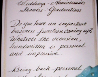 Special Occassion Handwritten Items