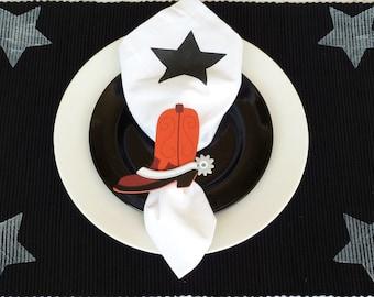 Cowboy Boot Napkin Rings - Set of 4