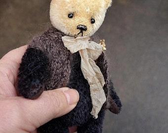 """Bumble, Miniature 6 1/2 """" Mohair Artist Teddy Bear from Aerlinn Bears"""