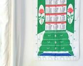 1966 Calender Towel - Vintage Kitchen Retro Decor
