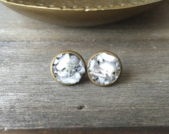 Moonstone Cluster Stud Earrings