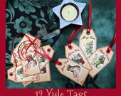 Printable YULE GIFT TAGS, Rituals, Spells, Book of Shadows Pages, Digital Download, Grimoire, Scrapbook, Spells, Wicca, Pagan, Witchcraft