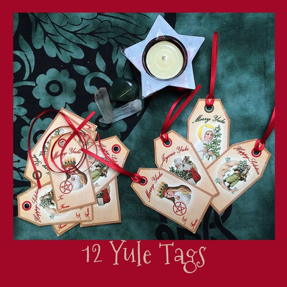 Yule Gift Tags - Printable