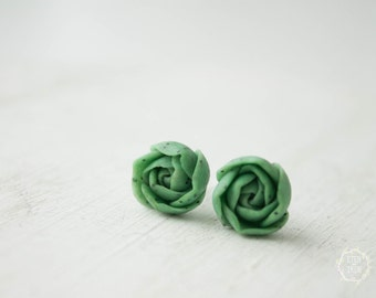 Green Succulent Stud Earrings Wholesale Small Hypoallergenic Studs Plants Succulent Jewelry Birthday Wedding Bridal Gifts