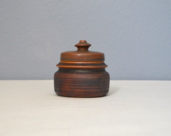 Vintage Arabia of Finland Kaarna Brown Lidded Sugar Designed by Ulla Procope