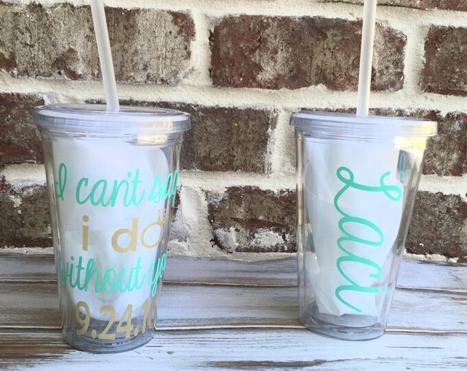 Monogrammed Acrylic Tumbler, Monogrammed Cup, Bridesmaid Gift, Monogrammed Gifts