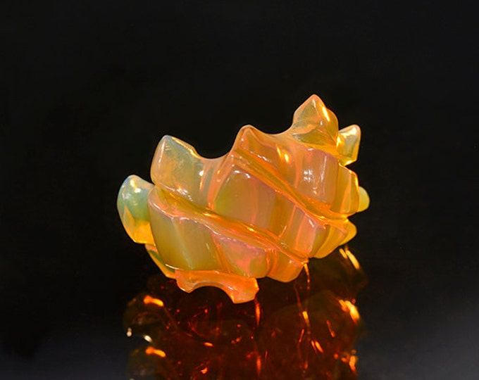 UPRISING SALE! Top Notch Hand Carved Orange Opal from Ethiopia 11.28 cts