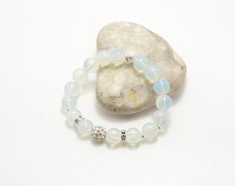 Moonstone bracelet, shambala bracelet, stone bracelet, beaded bracelet, semi-precious stones, natural stone, moonstone jewelry, moonstone