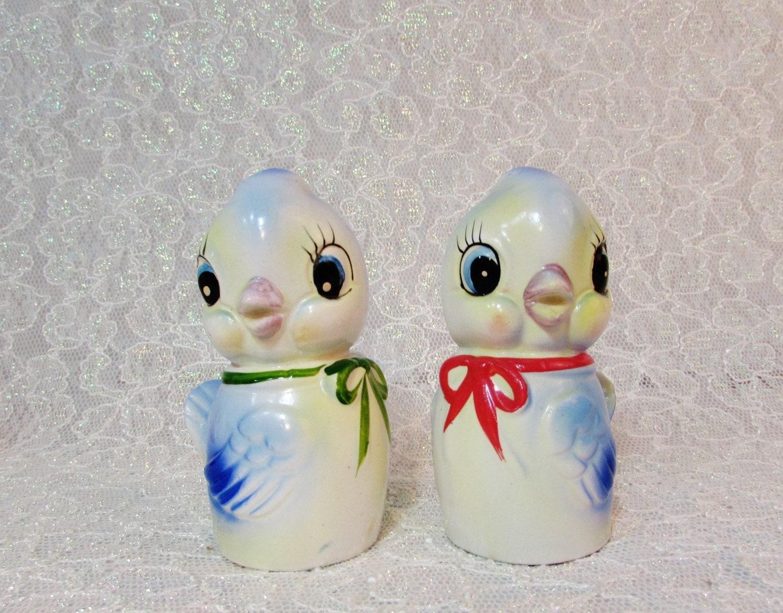 Comador Blue Bird Salt And Pepper Shakers Bird By