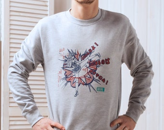 Japanese Shirt – Asaoka High Kick - Anime Manga Kawaii Girl - Hand Screen Printed Sweatshirt Long Sleeve Jumper