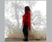 Crochet shawl, triangle shawl with fringes, fringe wrap crochet shawl, burgundy handmade  shawl,lace wrap, crochet poncho