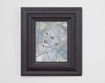 "8x10"" Original Fine Art Painting. ""Ghosts"" Series (1/6) : ""Harriet."" Mixed Media."