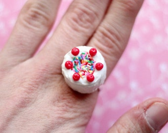 Miniature Cake Ring, Miniature Food Jewelry