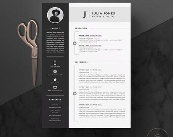professional resume template cover letter icon set for microsoft