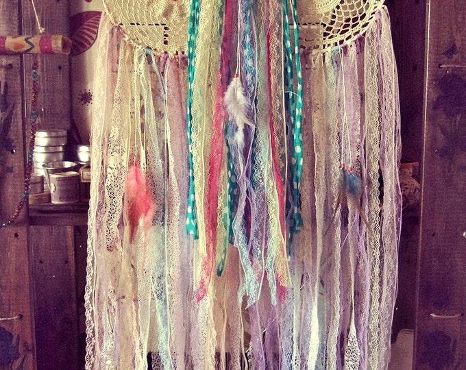 Gypsy Colorful Dreamcatchers Set - Hippie Home Decor - Boho Bedroom Wall Decor - Bohemian Dream Catcher - Boho Nursery - Hipster Decor