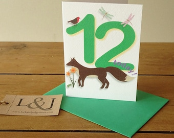 12th Birthday - Birthday Card - 12th Birthday Card - Twelfth Birthday - Child Birthday Card - 12 - 12th Birthday Gift - Childs Birthday Card
