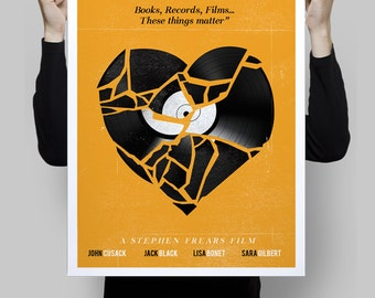 Alternative minimalist high fidelity poster movie film cinema geek music vinyl art home decor geek print