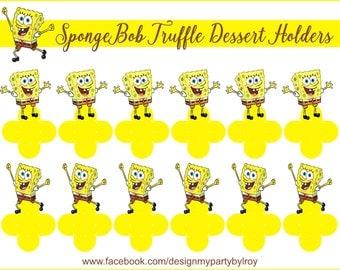 SPONGEBOB CANDY Holders, SpongeBob Party Decor, SpongeBob Party Supplies, SpongeBob Truffle Holders, SpongeBob Dessert Cups, SpongeBob Cups.
