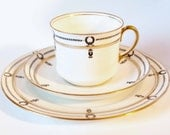 Aynsley Tea Cup Set 1920's Art Deco English China Tea Trio Aynsley Cup Saucer and Tea Plate