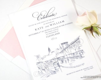Cleveland Skyline Save the Date Cards (set of 25 cards)