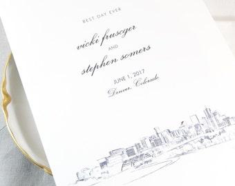 Denver Skyline Wedding Programs (set of 25 cards)