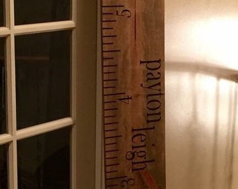 6 ft growth chart vinyl with custome name