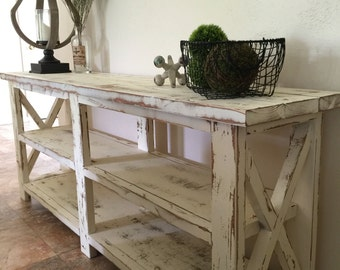 Farmhouse Console Entryway Foyer Table