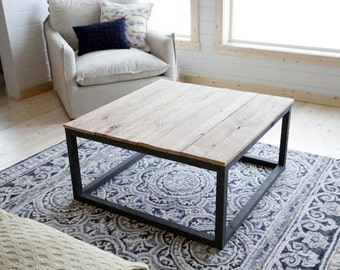 Simple Industrial Style Coffee Table