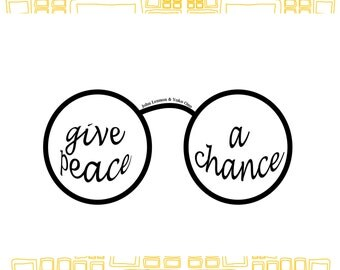 John Lennon Quote Instant DIGTIAL Download, Give Peace A Chance Famous Inspirational QUOTE A4 Print Typographic Wall Art Gift Wall Decor