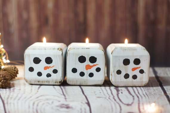 cute snowman candles