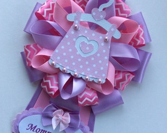 Baby Girl Baby Shower Corsage/Pink And Lavender Baby Shower Corsage/Itu0027s A  Girl