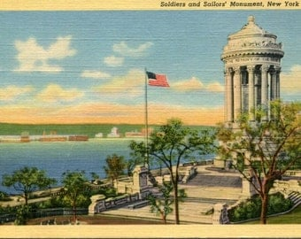 Art-Colortone Postcard, Soldiers and Sailors' Monument, New York City
