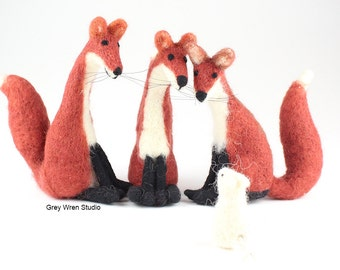 Needle felted Fox - foxes, needle felted fox, christmas gift, xmas gift, handmade, decoration, home, ornament, needlefelt, needlefelted