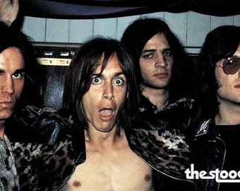 Iggy Pop and The Stooges Live On Stage Rare Vintage Poster