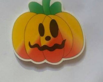 Halloween jack o'lantern resin needleminder  magnet