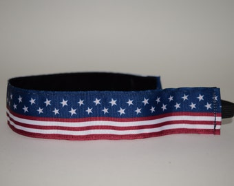 USA Flag  Headband- 1 1/2 inch Headband- Olympic Headband- Flag Headband- Memorial Day- 4th of July- nonslip- no slip headband- USA headband