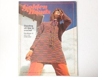 Vintage Golden Hands Magazine, Part 69, Volume 5, Craft Magazine from 1970s, Knitting, Crochet Sewing Patterns, 00245