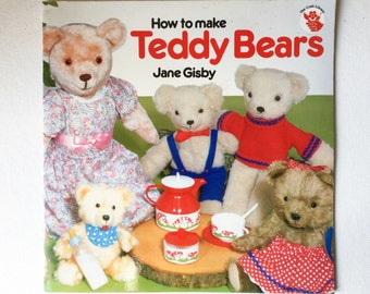 Vintage Teddy Bear Craft Book, How to Make Teddy Bears, Jane Gisby, Paperback, Search Press, 1987, 01171